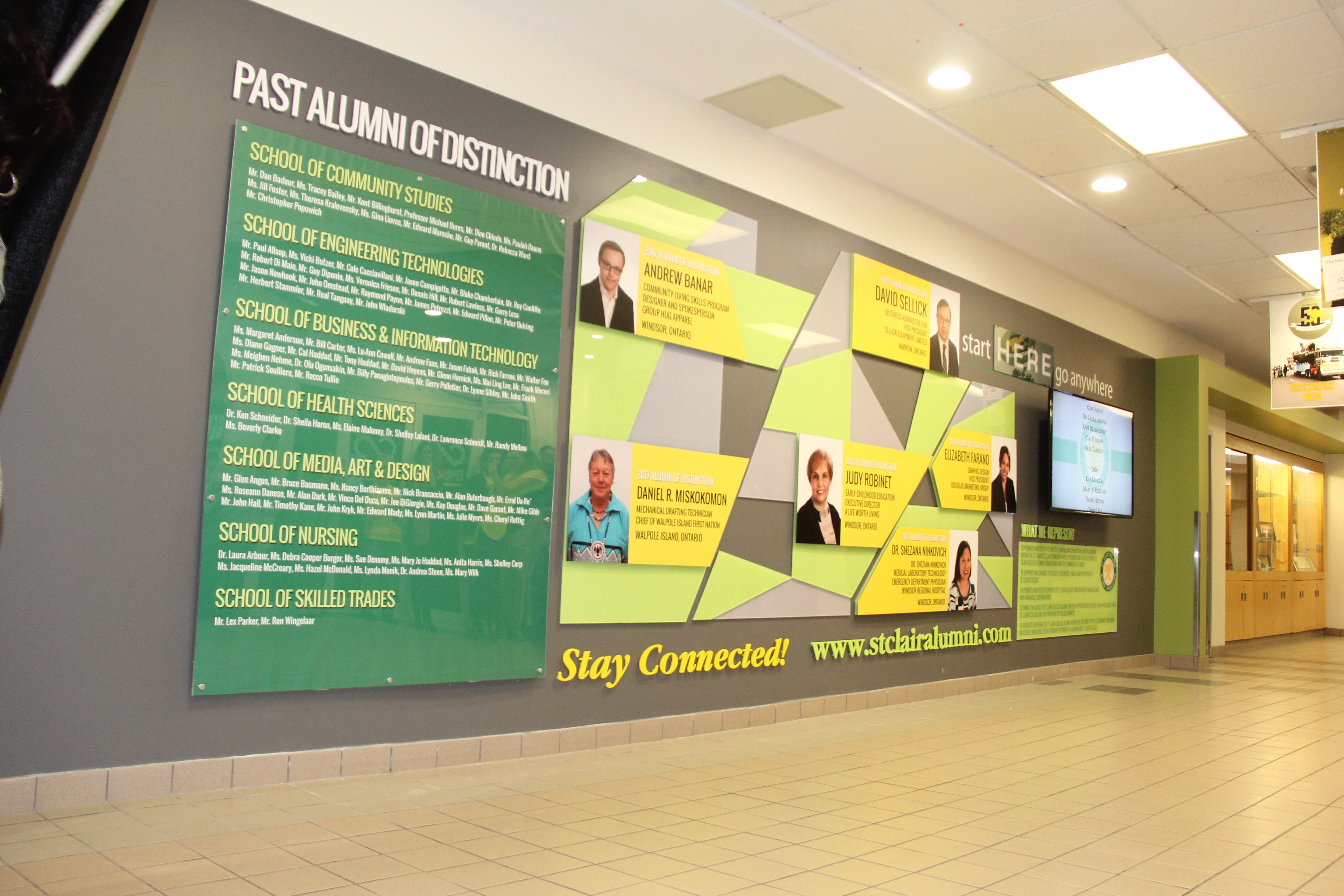 The New Alumni Wall Was Designed By St. Clair College Student Brandon Roy.