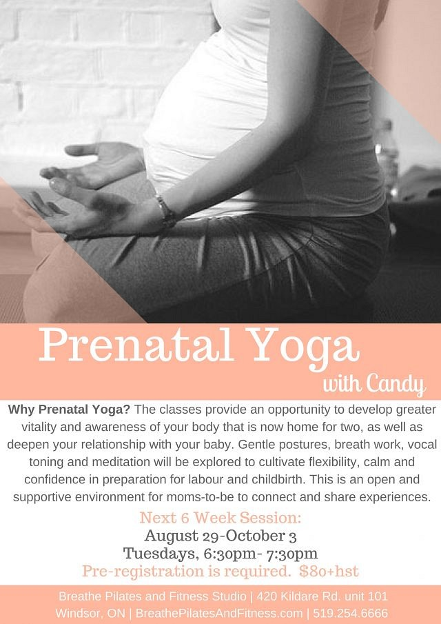 Prenatal Yoga with Candy